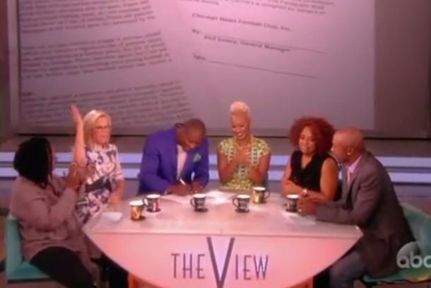 brandon marshall signs contract extension on the view