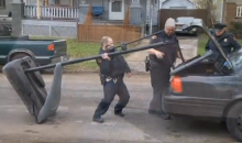 Cleveland Cops Confiscate Kids' Basketball Hoop, Drag It Away With Their Police Cruiser (Videos)