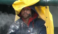 Indians Pitcher Corey Kluber Showered With Seeds, Baby Powder, and More During Interview, But Doesn't Flinch (Video)