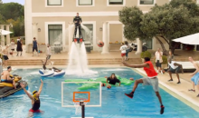 Euroleauge Players Team Up for Epic Pool Dunk Commercial (Video)