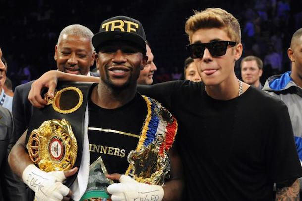 flloyd mayweather and justin bieber