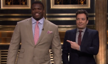 Jimmy Fallon Has Jadaveon Clowney and Other Top NFL Draft Prospects on Tonight Show, Innocuous Jokes Ensue (Video)