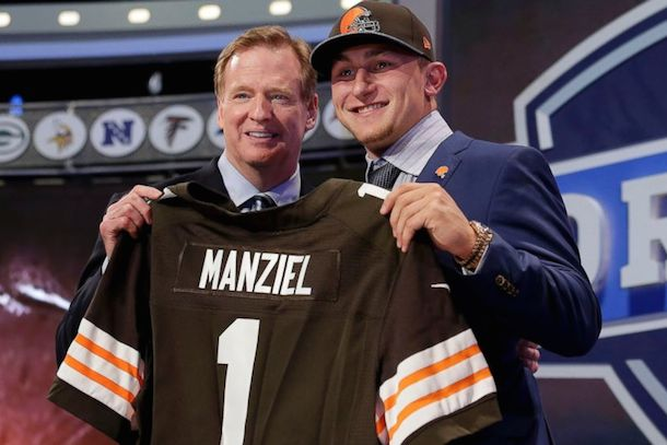 johnny manziel draft cleveland browns