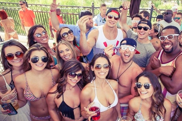 johnny manziel parties in vegas