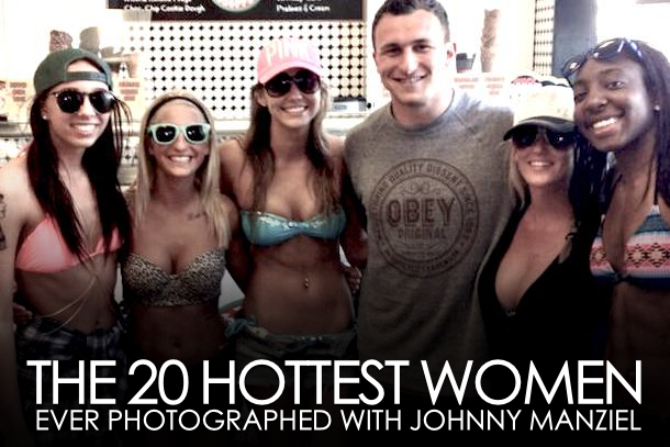 johnny manziel with hot chicks