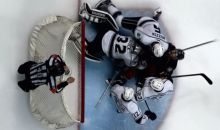 Jonathan Quick Punched Corey Perry in the Nuts with His Blocker (Video)