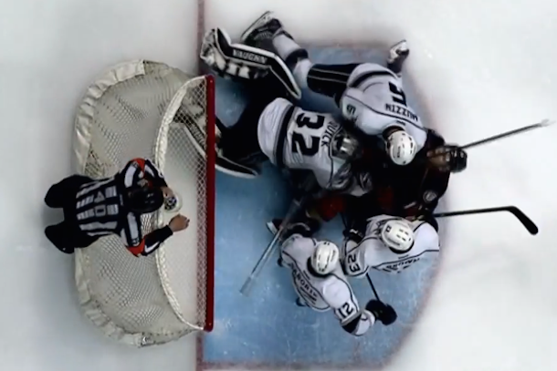 jonathan quick punches corey perry in the nuts
