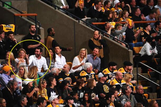 justin verlander and kate upton at bruins canadiens game 7