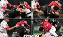Drunk Korean Baseball Fan, Fed Up With Blown Calls, Decides to Put Umpire in Headlock (Video)