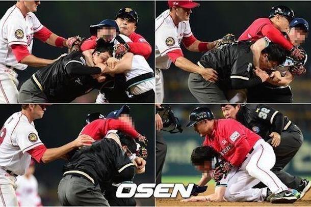korean baseball fan attacks umpire