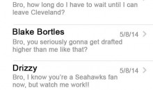 EXCLUSIVE: Leaked Texts Sent from Johnny Manziel on Draft Night!