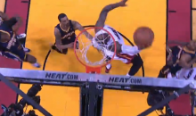 LeBron James' Reverse And-1 Dunk Sums Up Game 4 Between the Heat and Pacers (Video)