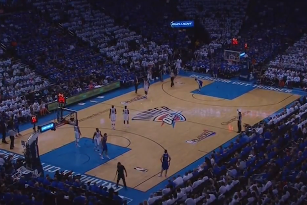 lights out oklahoma city thunder clippers game