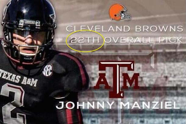 manziel 22th overall tweet