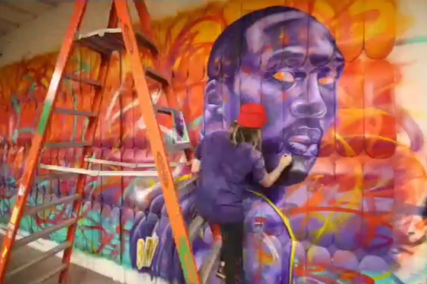 mark paul deren madsteez kobe mural time lapse