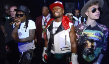 Floyd Mayweather Walk-In Entourage Features Lil Wayne and Justin Bieber…and Circus Performers (Video)