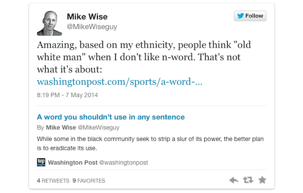 mike wise tweet
