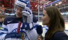 Finland's Petri Kontiola Gives Awesomely Terrible Interview at IIHF World Championship (Video)