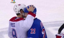 Brandon Prust and Derek Stepan Hug It Out in Post-Series Handshake Line (Video)