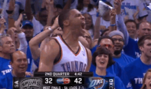 Russell Westbrook Brought His A+ Game and an Extra Dose of Swag to Game 4 Last Night (GIFs + Video)