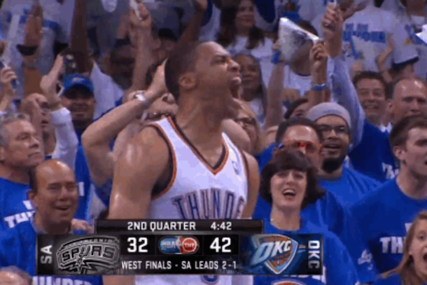 russell westbrook game 4 performance scream