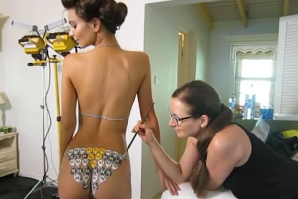 Body paint nude video