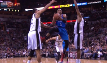 Tim Duncan Got Kicked in the Nuts by Russell Westrook (Video)