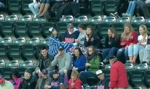 Drunk Twins Fan Flips Off Other Fan for Keeping Home Run Ball (Video)