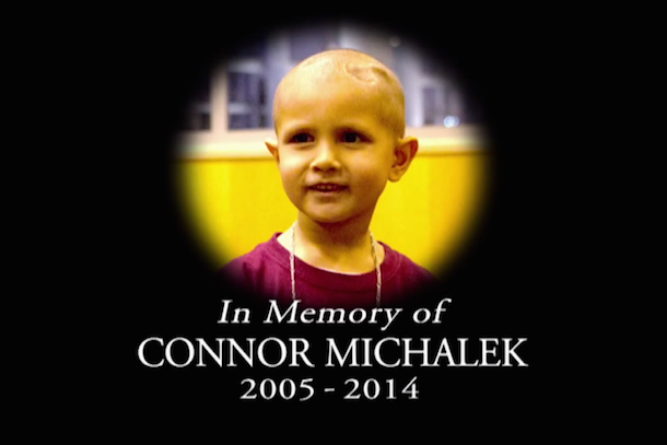 wwe tribute to young fan connor michalek died of cancer