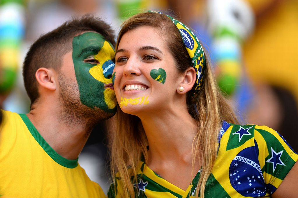 1 brazil 3 - hottest fans 2014 fifa world cup