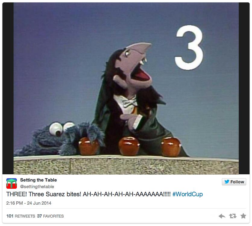 11 suarez count - luis suarez bite memes and tweets
