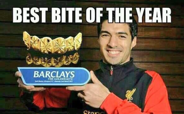 13 bite of the year - luis suarez bite memes and tweets