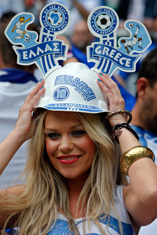 13 greece 1 - hottest fans 2014 fifa world cup