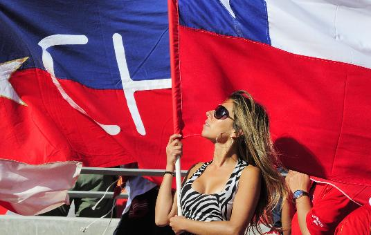 18 chile 2 - hottest fans 2014 fifa world cup