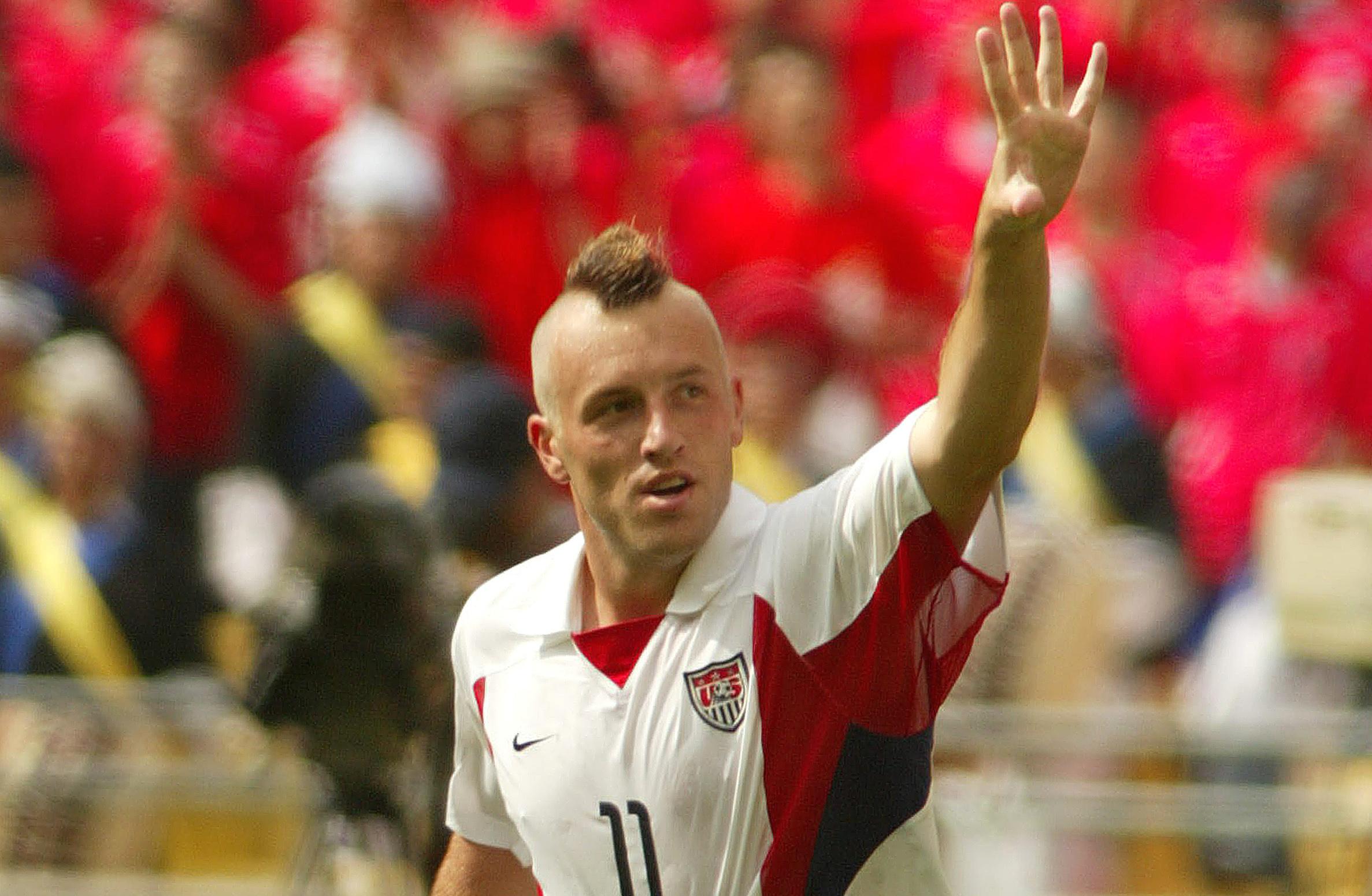 21 clint mathis (usa 2002) - greatest world cup hairdos