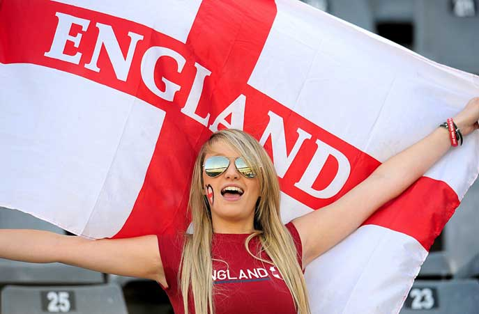 22 england 3 - hottest fans 2014 fifa world cup