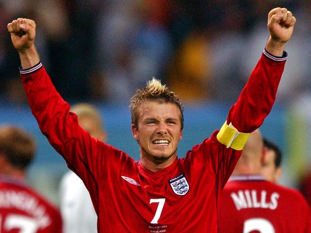 23 david beckham (england 2002) - greatest world cup hairdos