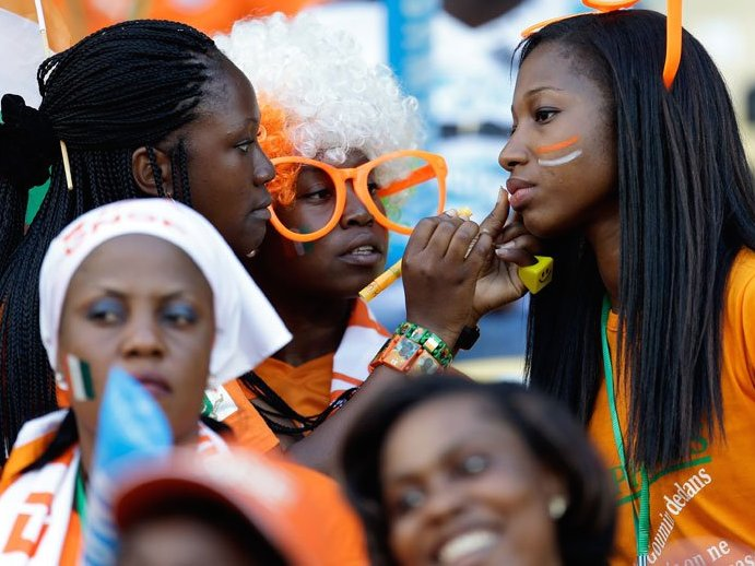 23 ivory coast 2 - hottest fans 2014 fifa world cup