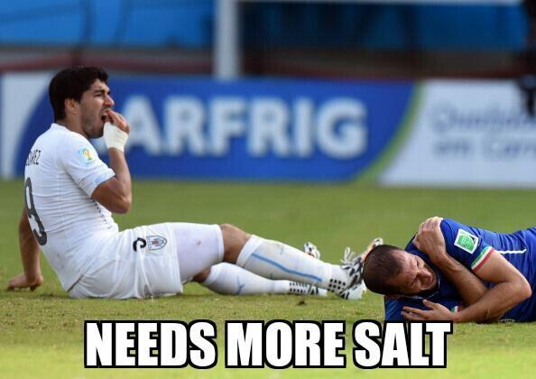 29 suarez needs more salt - luis suarez bite memes and tweets