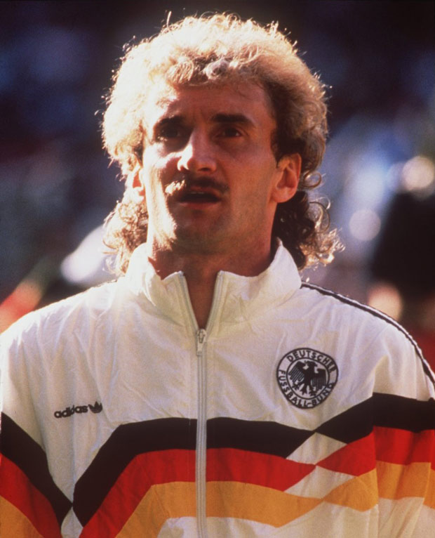 7 rudi voller (west germany 1990) - greatest world cup hairdos