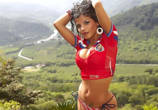 9 costa rica 2 - hottest fans 2014 fifa world cup