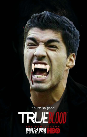 9 suarez true blood vampire suarez opponents jersey cuts of meat - luis suarez bite memes and tweets
