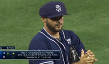 Padres' Alex Torres Tries Out New Protective Cap During Game (Video)