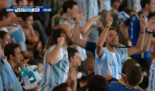 "Argentina Fan Sports ""World Class Skullet"" at 2014 World Cup (Photo)"