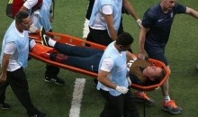 England Physio Gary Lewin Injured While Celebrating World Cup Goal vs. Italy (Photos)
