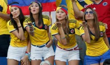 More Sexy Girls Spotted at the World Cup on Tuesday, via Greece and Colombia (Video)