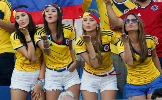 Hot Colombia World Cup Fans