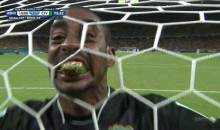 Ivory Coast Goalkeeper Celebrates Goal With Mouth Full of Grass at World Cup (Video)