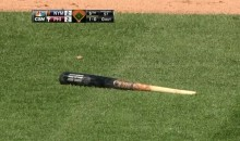 Marlon Byrd Somehow Managed to Break His Bat on a Swing-and-Miss (Video)