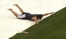 Everth Cabrera and Yasmani Grandal Use Rain Tarp as Slide-n-Slide (GIF)
